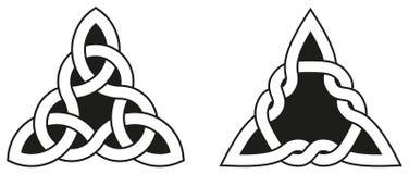 Dos nudos célticos del triángulo Imagen de archivo libre de regalías