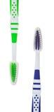 Dos nuevos cepillos de dientes Imagenes de archivo