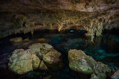 DOS Ojos di Cenote Immagini Stock Libere da Diritti