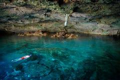 DOS Ojos di Cenote Immagini Stock