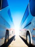 Dos omnibuses turísticos Imagen de archivo libre de regalías