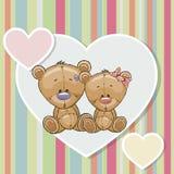 Dos osos ilustración del vector