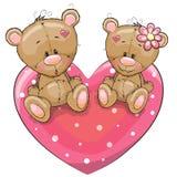 Dos osos stock de ilustración