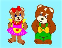 Dos osos Fotos de archivo