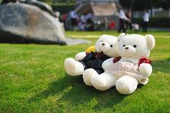 Dos osos de peluche imagenes de archivo