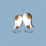 Dos pájaros del amor Foto de archivo