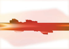Dos pâle de rouge avec la barre de fraction rouge et orange Images stock