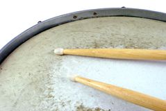 Dos palillos del tambor Foto de archivo libre de regalías