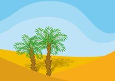 Dos palma-árboles Foto de archivo