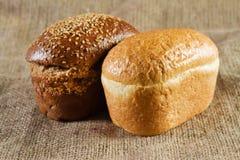 Dos panes de pan Fotografía de archivo