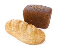 Dos panes de pan Foto de archivo