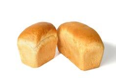 Dos panes de pan blanco Fotos de archivo libres de regalías