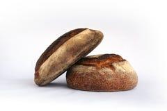 Dos panes de pan de centeno Imagenes de archivo
