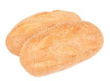 Dos panes de pan del sésamo Fotos de archivo