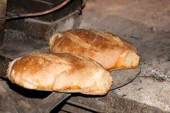 Dos panes de pan tostado Fotografía de archivo libre de regalías