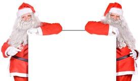 Dos Papá Noel fotografía de archivo