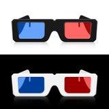 Dos pares de 3D del icono de los vidrios Imagen de archivo libre de regalías