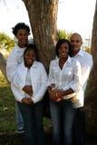 Dos pares del afroamericano Fotos de archivo
