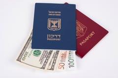 Dos pasaportes Fotografía de archivo libre de regalías