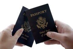 Dos pasaportes fotografía de archivo