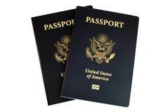 Dos pasaportes americanos Foto de archivo libre de regalías