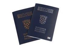 Dos pasaportes croatas Fotografía de archivo libre de regalías