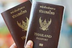 Dos pasaportes tailandeses disponibles Imagenes de archivo