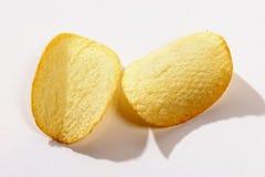 Dos patatas fritas Fotos de archivo libres de regalías