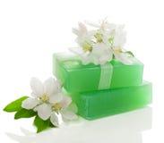 Jabón y flor Fotos de archivo libres de regalías