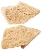 Dos pedazos de piedra mineral de la piedra arenisca (arenite) Imagen de archivo