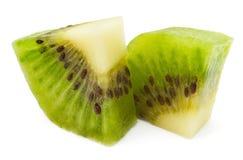 Dos pedazos del kiwi Foto de archivo libre de regalías
