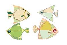 Dos peixes. fauna. o mar. água ilustração stock