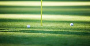 Dos pelotas de golf Foto de archivo libre de regalías