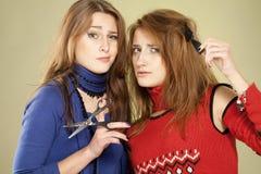 Dos peluqueros imagen de archivo libre de regalías