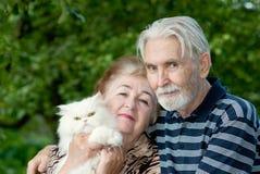 Dos pensionistas fotografía de archivo
