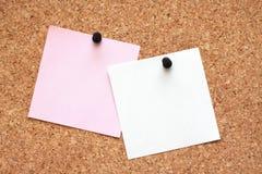 Dos pequeñas hojas de papel Fotografía de archivo libre de regalías