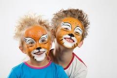 Dos pequeños tigres Foto de archivo libre de regalías