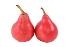 Dos peras rojas Imagen de archivo libre de regalías