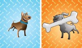 Dos perros divertidos stock de ilustración