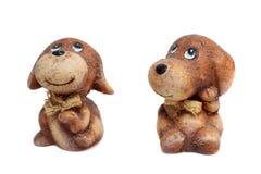 Dos perros sonrientes Fotografía de archivo libre de regalías