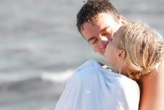 Dos personas jovenes en amor Imagen de archivo