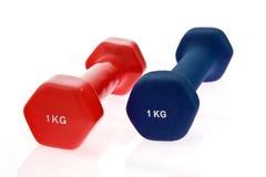 Dos pesas de gimnasia 1 kilogramo Imagen de archivo libre de regalías