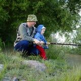 Dos pescadores Imágenes de archivo libres de regalías