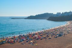 DOS Pescadores, Abureira, Πορτογαλία, όλη η άποψη Praia στοκ φωτογραφίες