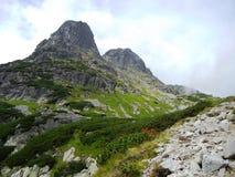 Dos picos de montaña redondos en Eslovaquia fotos de archivo libres de regalías