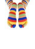 Dos piernas del payaso Imagen de archivo