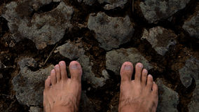 Dos pies de esperanza Imagen de archivo