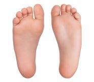 Dos pies humanos descubiertos Fotos de archivo