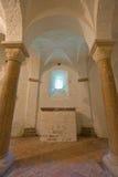 Dos pilares del Romanesque Imagen de archivo libre de regalías