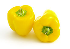 Dos pimientas amarillas Fotografía de archivo libre de regalías